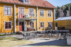 Restaurangen i Wendela Hebbes hus håller uteserveringen öppen till klockan 20 alla dagar utom söndag. Foto: Simon Karlsson