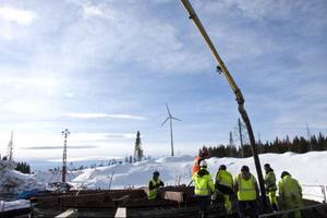 Ett verk finns redan på plats. Sex till kommer om två veckor, och till hösten blir det ytterligare fem verk på Ollebacken vid Sikåskälen.