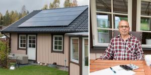 Västerbergslagens Energi erbjuder sig att köpa överskottsel från kunder med solceller installerat. Fattah Hamadi installerade en anläggning i somras men är inte nöjd.