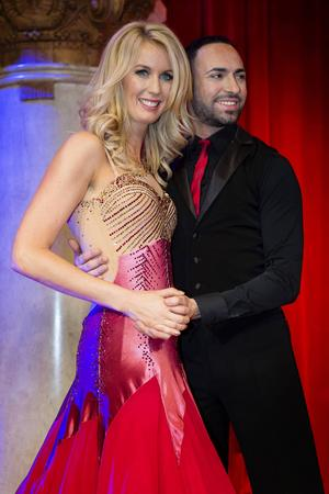 TV-profilen Jenny Strömstedt dansar med Stefano Oradei.