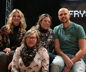 Drivande bakom Toleransprojektet i Borlänge: Helena Hermansson, Susanna Skogbergs, Mathias Ewaldsson och Åsa Olsson.