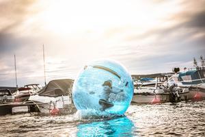 Vatten zorbing, går ut på att man springer i bollar på vattnet.