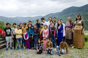 På tisdagskvällen anlände lägerdeltagarna till Utsiktens turistgård – som fått sitt namn efter den vidsträckta vyn över bergen och Indalsälven.