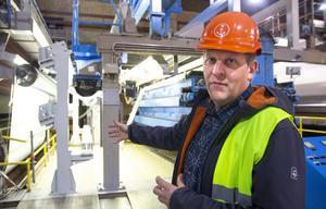 Johan Granås, hållbarhetschef Iggesund Paperboard, ser inga problem med att de utsläppsrätter företaget får över säljs vidare.