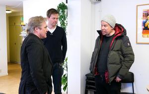 Patrik Andersson tillsammans med Filip och Fredrik.
