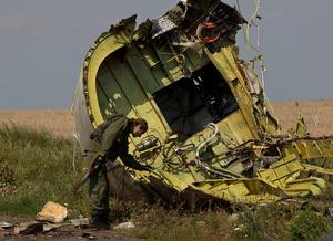 Vraket av MH17 på nedslagsplatsen.AP Photo/Vadim Ghirda