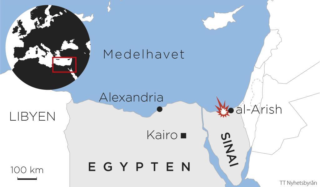 En dod i skottlossning vid kloster i egypten