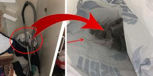 På flera platser i lägenheten hittades undangömd narkotika. Bilder från polisens förundersökning.