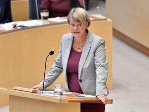 Riksdagsledamoten Ulla Andersson (V) uppmanade finansminister Magdalena Andersson att leva upp till regeringen och riksdagens inriktning om statlig närvaro i hela landet.