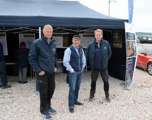 Jan Ericsson, Mats Stigvant och Leif Olsson representerade Siljan Skog AB under mässan.
