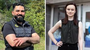 Khalid Karim och  Emma-Lina Haglund stortrivs på HSB.