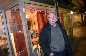 Kenneth Persson efter S-mötet om Idkerbergets skola.
