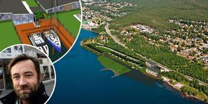 På Järvedsstrand planeras hundra bostäder, fördelade på 70 villor och 30 lägenheter. Skiss: Byggsigurd