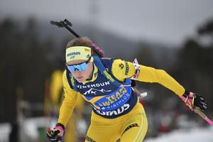 Hanna Öberg vid ett tidigare tillfälle. Under torsdagen blev hon åtta i individuella världscuppremiären för säsongen.