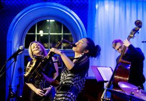 Claire Martin, Grace Kelly och Martin Sjöstedt uppträdde på E-street under måndagen.