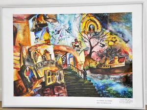 Elena Butakova, 13 år, har målat