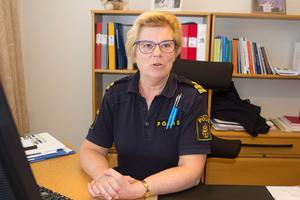 Som kommunpolis och patrullerande på gatorna får Eva Lindberg får Eva Lindberg varje dag uppsktattning.
