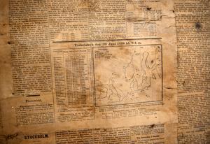 I dagstidningen från slutet av 1800-talet var vädret ett lika viktigt inslag som det är i dag.