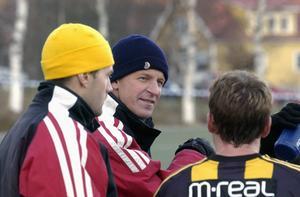 Janne Westerlund tillsammans med Andreas Quist som var assisterande tränare i FV. Bild: Hans Edlund