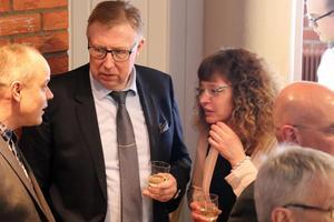 Elkapslings Bo Berglund (mitten) kom till Företagarfesten med chans att gå hem med priset som Årets tillväxtföretag.