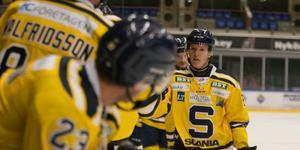 Hugo Gustafsson utgick skadad borta mot Björklöven.
