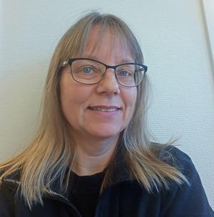 Jessica Lindström, assistent och fastighetsskötare på Skinnskattebergs kommun.