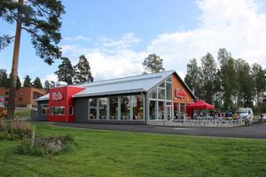 Sibyllarestaurangen i Hofors. Helt nybyggd och den största varianten som finns i Sverige.