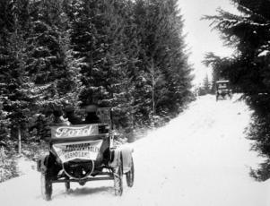 Provkörning för 100 år sedan i fruktade i Oringebacken.