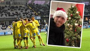 Tommy Naurin och hans tomtekompisar ska samla in julklappar till bättre behövande. Foto: TT/GIF Sundsvall (Montage).