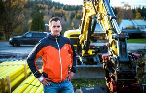 Timråföretaget Tunbyns grävkonsult ägare Martin Haag.
