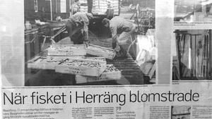 Lennart Hurtig har många egna minnen från fiskets storhetstid i Herräng. Fiske och sjöfart är också  en del av hans släkts historia. Morfar var sjökapten och rundade Kap Horn sju gånger. Hans mamma var fiskekommissionär och ansvarade för leveranserna av fisk till Stockholm på 1930-50-talen. 1942 levererades till exempel 186 ton strömming från Skeppshusviken i Herräng till Klarakvarteren i Stockholm.