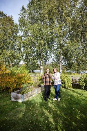Från trädgården kan de kliva direkt ut på hälsans stig som går runt Höglandssjön.
