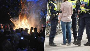 Många ungdomar vill fira valborg och vårens ankomst, vilket ofta resulterar i att polisen får mycket att göra.Bild: Johan Nilsson /TT, Fredrik Sandberg /TT