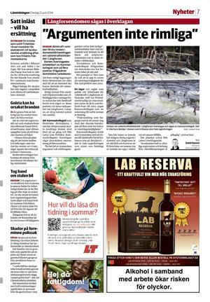 Länstidningen den 25 juni 2014.