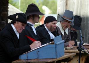 Arkivbild från Häxornas tid som spelades upp i Lillhärdal.