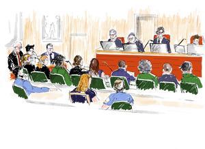 Huvudförhandlingen i rättegången mot rapstjärnan Asap Rocky, som misstänks för misshandel, har avslutats. Illustration: Anna-Lena Lindqvist/TT