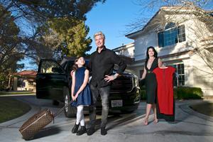 Hemma hos Joe Labero i Las Vegas med fru Anna Vinterfall och dotter Nicole. – Jag har hållit på i 35 år nu, och det är verkligen min pojkdröm jag får uppleva, säger Joe Labero.BIld: Pontus Hook.