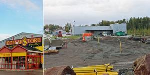 Dollarstore i Sandviken expanderar och flyttar till dubbelt så stora lokaler bakom Willys. Markarbetena är i full gång.