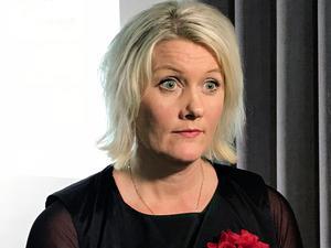 Socialdemokraternas partisekreterare Lena Rådström Baastad avfärdar ett samarbete med SD.  Bild: Lars Larsson/TT