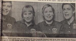 Medelpads målgörare i handboll, Yvonne Jönsson, Solveig Öngren, Anitha Jacobsson och Eva Johansson.                                             ST 2 december 1968.