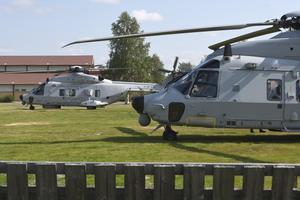 Helikopter 14 F på plats i Särna.