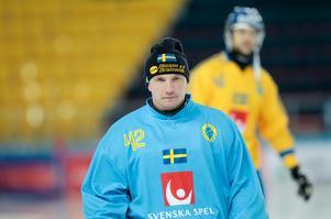 Anders Svensson står VM-finalen mot Ryssland. Foto: Rikard Bäckman / Bandypuls.se / TT