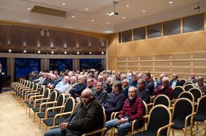 130 personer kom till  Jägareförbundet Falu JVK:s årsmöte vid Falu gruva, när Karl Hedin var talare.