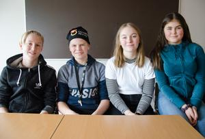 Markus Danielsson, Herman Wikner, Lovisa Eriksson och Julia Eriksson går i årskurs åtta på Myrvikens skola. De berördes starkt av Eva Wedbergs föreläsning och tycker att det är bra att skolan arrangerade den.