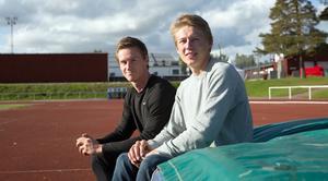 Andreas Gustafsson och Emil Uhlin är två lovande tiokampare från Falu IK.
