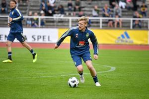 Forsberg blir en av Sveriges nyckelspelare i VM och målas upp som den som ska leda offensiven. Bild: Vilhelm Stokstad/TT