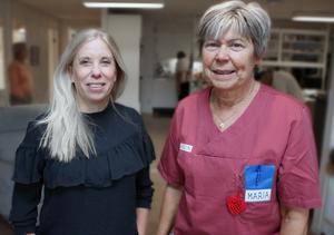 Bästa jobbet, att få människor att må bra, tycker undersköterskorna Malin Wallin och Maria Olsson om dagverksamheten. Att stämningen är så lugn är ett medvetet arbete, betonar de.