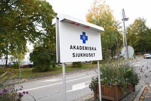 Bristen på sjukvårdsmaterial är akut i Uppsala. Foto:Fredrik Sandberg / TT