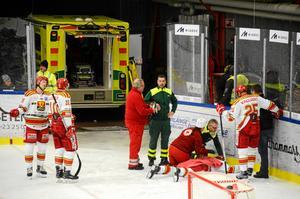 Borlänge–Skövde avbröts efter Hugo Borgs skada.