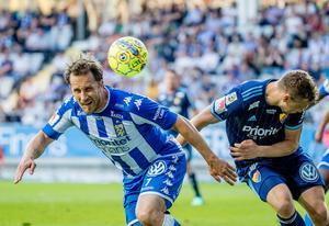 Tobias Hysén och IFK Göteborg gästar Åvallen i Nyhammar.Foto: Adam Ihse/TT